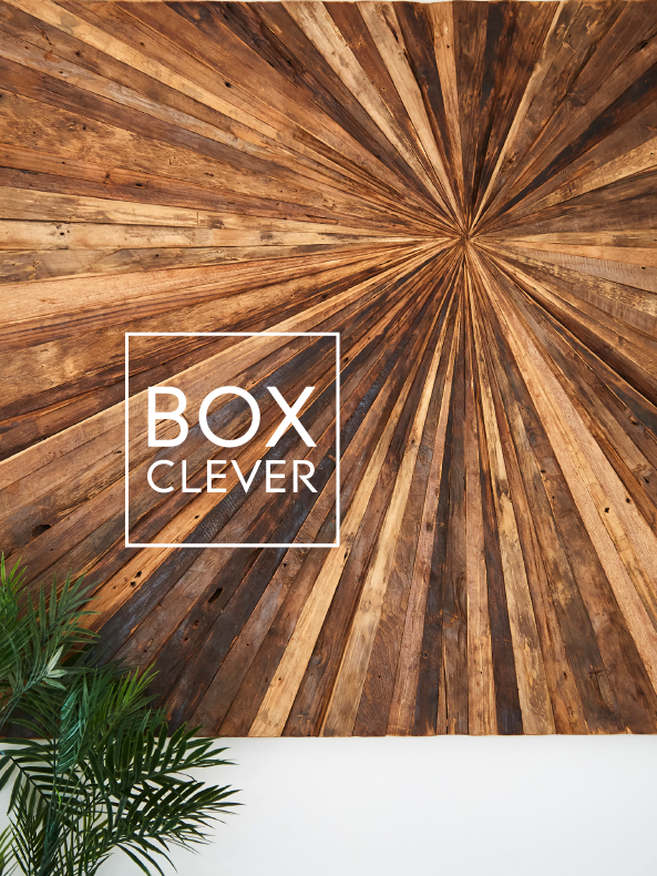 Box Clever Interiors Sunshine Coast Timber Art and plant