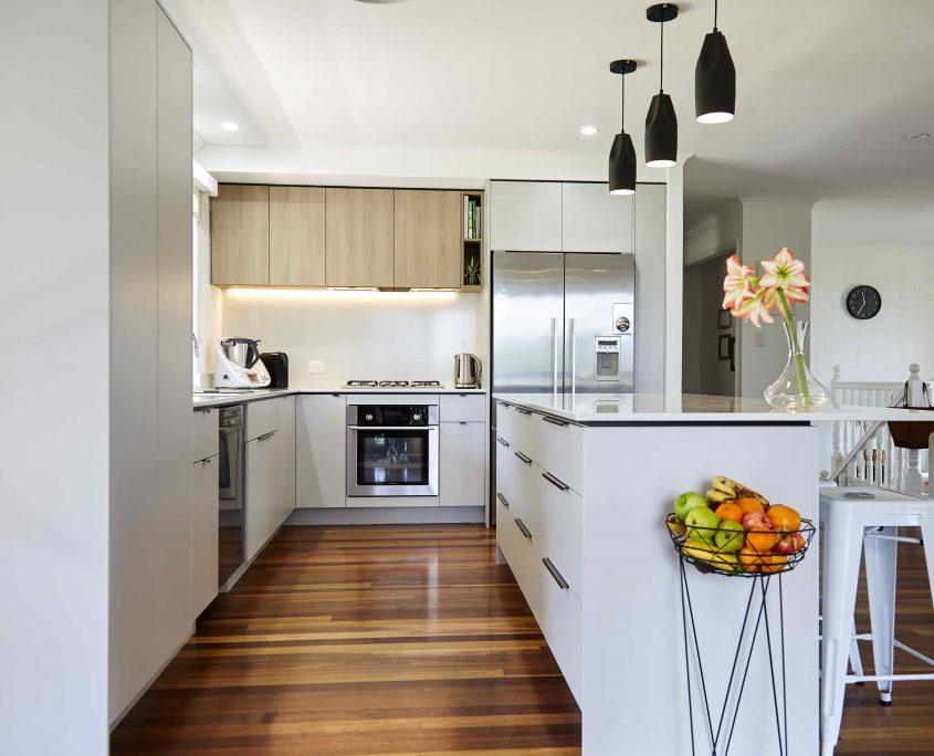 Fruit bowl and thermomix modern kitchen design sunshine coast