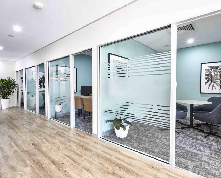 Meeting Rooms office space Caloundra timber vinyl flooring