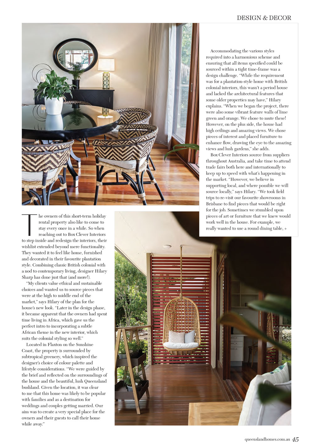 Queensland Homes Box Clever Interiors Article