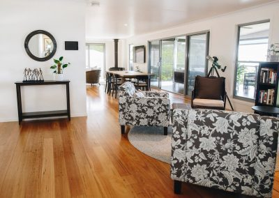 Lounge and dining flaxton airbnb