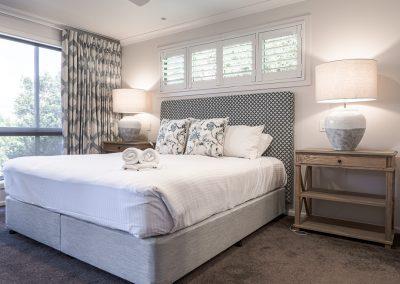 Master Bedroom Custom Headboard and Curtains