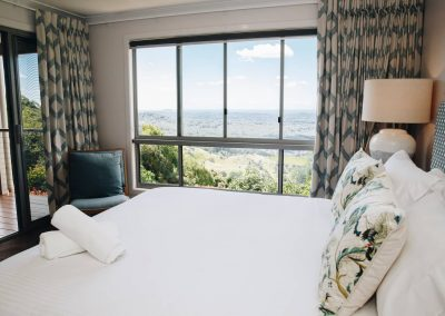 Master Bedroom view and curtains