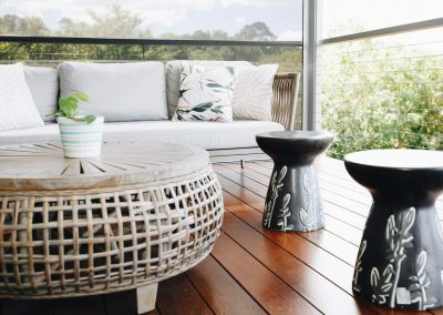 Outdoor furniture side table and coffee table