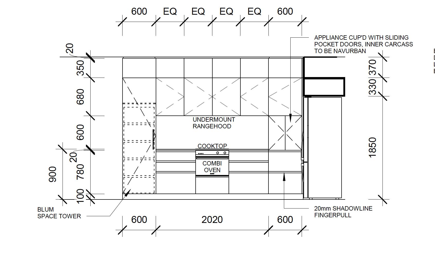 Kitchen Elevation Caloundra