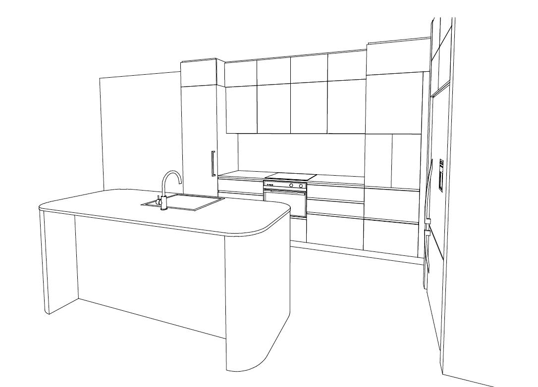 3D Sketch_kitchen_Maroochydore_style