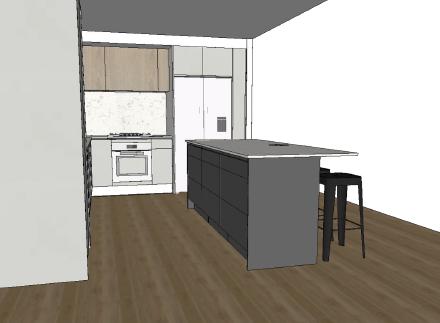 Sunshine Coast Kitchen Design Sketch
